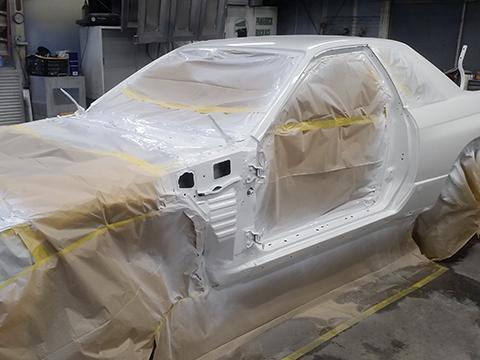 オールペイントとは お車のボディ全体をまるごと塗装をすることですが、現在の現行色のまま、新たに外側のみリフレッシュする手法