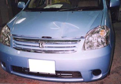 ラウム フロント損傷 鈑金塗装サムネイル
