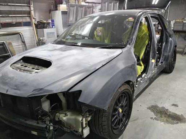 スバル  インプレッサ  STI  GRB アウディ限定色オールペイント全塗装サムネイル