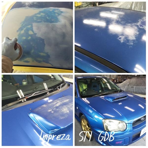 スバル インプレッサ GDB STI ルーフ塗装劣化サムネイル